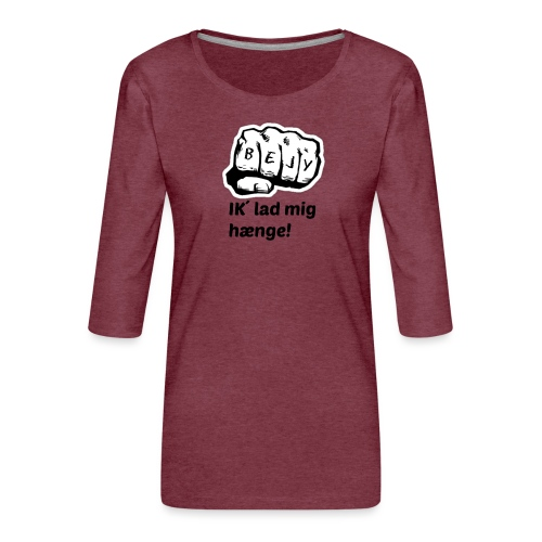 BEJY SHOP - Dame Premium shirt med 3/4-ærmer