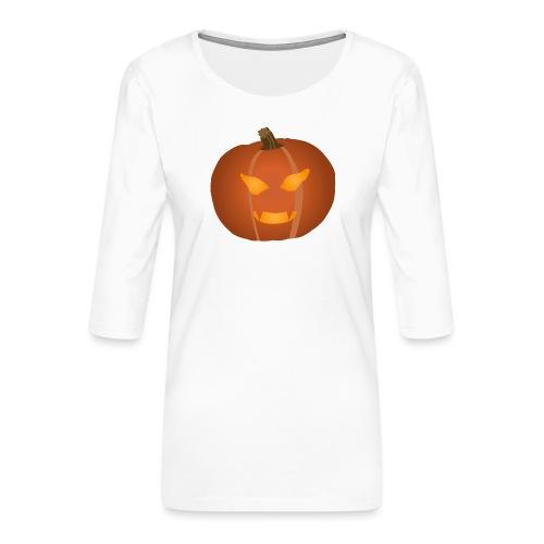 Pumpkin - Premium-T-shirt med 3/4-ärm dam