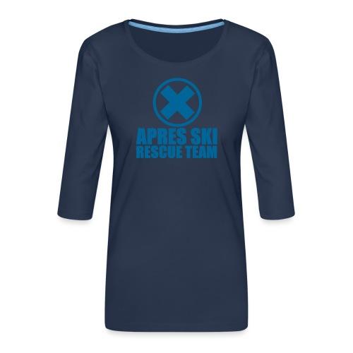 apres-ski rescue team - Vrouwen premium shirt 3/4-mouw
