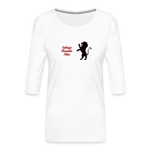 Gryffondor - T-shirt Premium manches 3/4 Femme