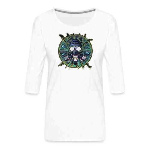 RailleDingue (400ppp - 40 - T-shirt Premium manches 3/4 Femme