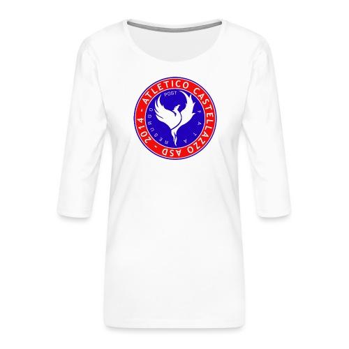 Logo Ufficiale Atletico Castellazzo - Maglietta da donna premium con manica a 3/4