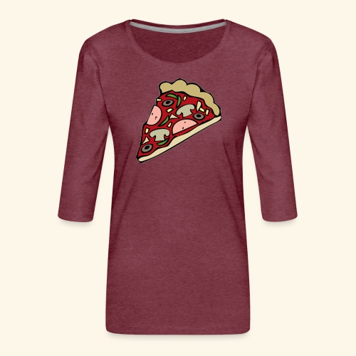 Pizza - T-shirt Premium manches 3/4 Femme