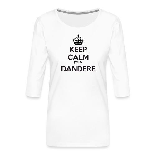 Dandere keep calm - Women's Premium 3/4-Sleeve T-Shirt