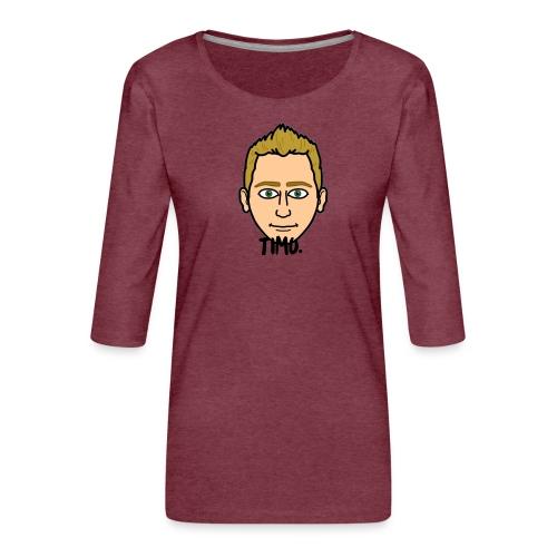 LOGO VAN TIMO. - Vrouwen premium shirt 3/4-mouw