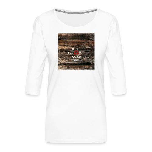 Jays cap - Women's Premium 3/4-Sleeve T-Shirt