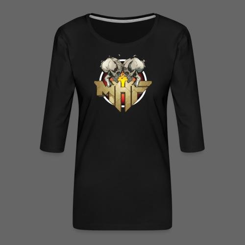 new mhf logo - Women's Premium 3/4-Sleeve T-Shirt