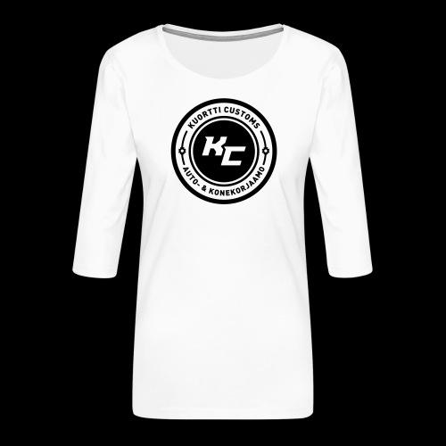 kc_tunnus_2vari - Naisten premium 3/4-hihainen paita