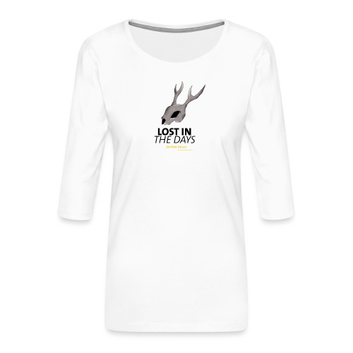 crane sky visu t shirt2 png - T-shirt Premium manches 3/4 Femme