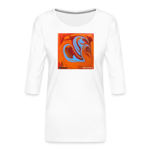 TIAN GREEN Mosaik DK005 - Herzenswelten - Frauen Premium 3/4-Arm Shirt
