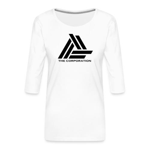 zwart metnaam keertwee png - Women's Premium 3/4-Sleeve T-Shirt