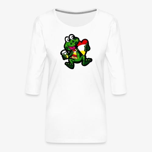 Oeteldonk Kikker - Vrouwen premium shirt 3/4-mouw