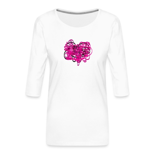 delicious pink - Women's Premium 3/4-Sleeve T-Shirt