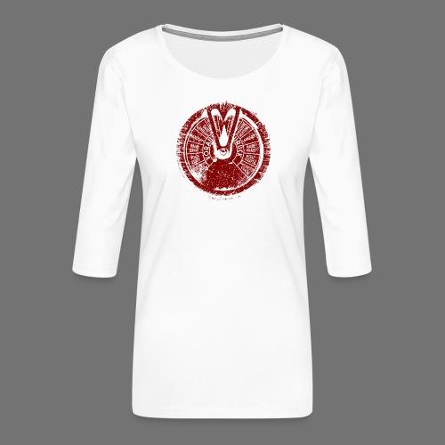 Maschinentelegraph (red oldstyle) - Frauen Premium 3/4-Arm Shirt