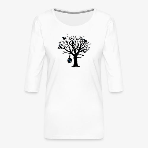 Musical Birds in Tree 2 blau Hangman Vinyl - Frauen Premium 3/4-Arm Shirt