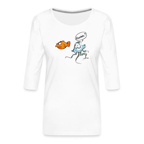 Kuscheln? - Frauen Premium 3/4-Arm Shirt
