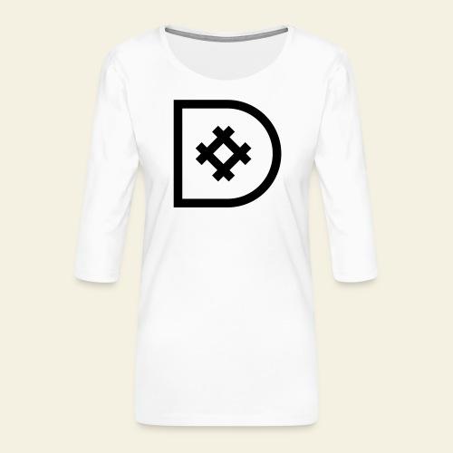Icona de #ildazioètratto - Maglietta da donna premium con manica a 3/4