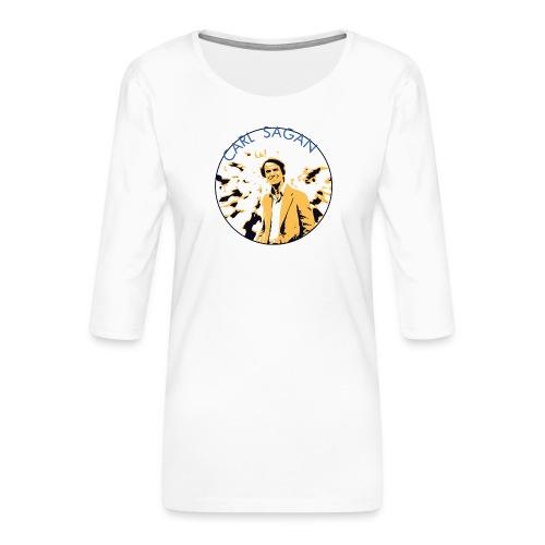 Vintage Carl Sagan - Women's Premium 3/4-Sleeve T-Shirt