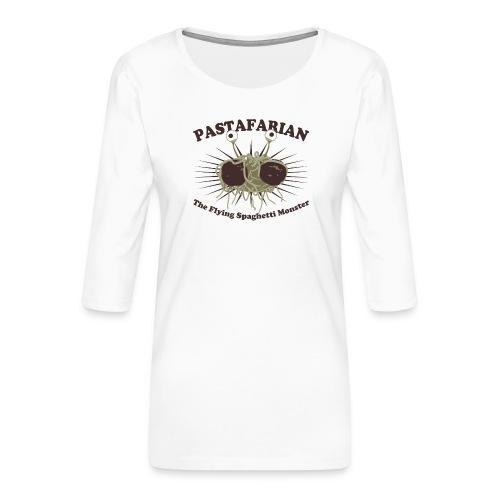 The Flying Spaghetti Monster - Women's Premium 3/4-Sleeve T-Shirt