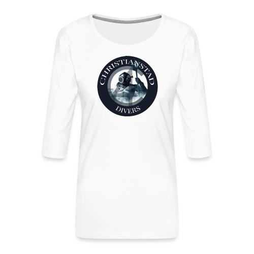 Logotype-2 - Premium-T-shirt med 3/4-ärm dam