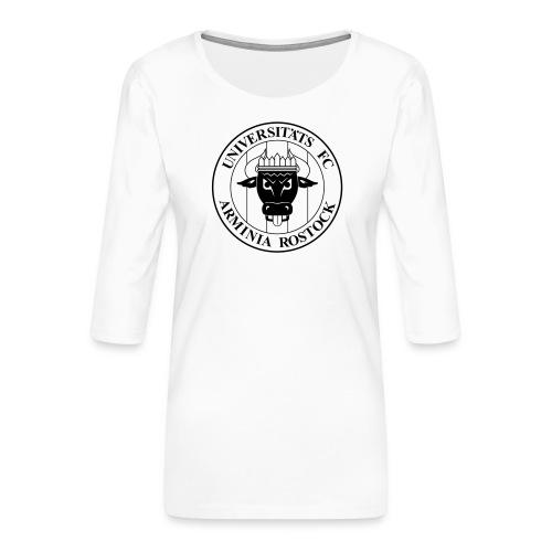 UFC Logo nur schwarz - Frauen Premium 3/4-Arm Shirt