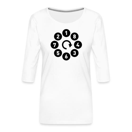 v8firing01b - Premium T-skjorte med 3/4 erme for kvinner