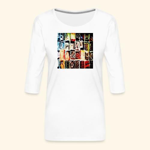 Mosaico - Maglietta da donna premium con manica a 3/4