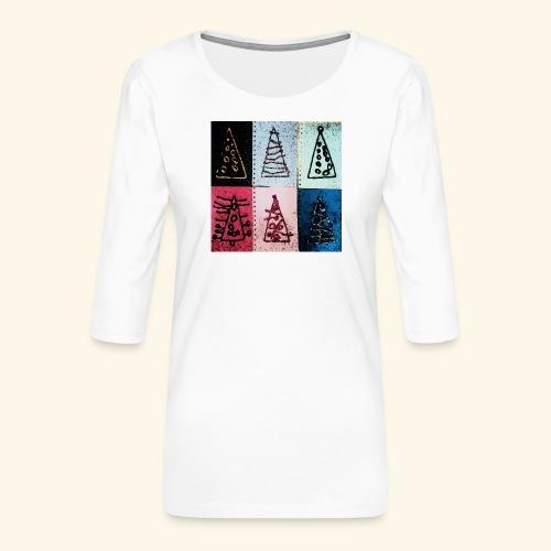Alberi natale - Maglietta da donna premium con manica a 3/4