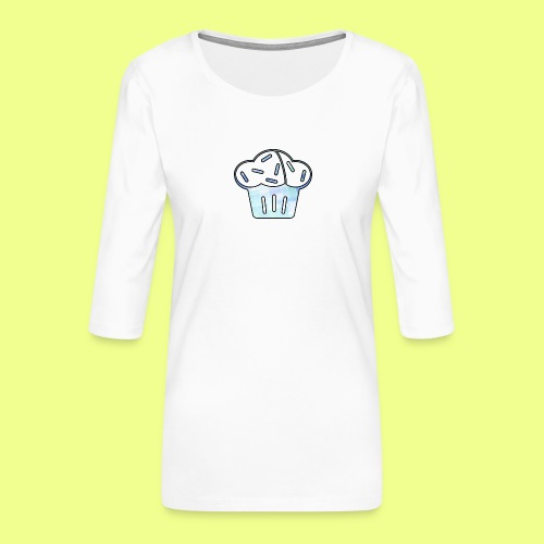 Pastel - Camiseta premium de manga 3/4 para mujer