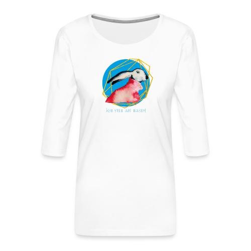 Niedlicher Osterhase mit Rolli - Frauen Premium 3/4-Arm Shirt