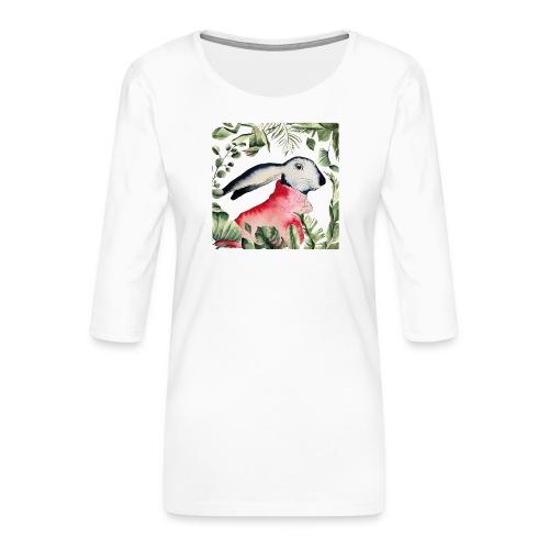 Osterhase im Dschungel - Frauen Premium 3/4-Arm Shirt