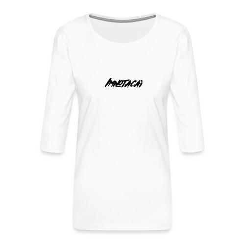 Immnotacat main design - Premium-T-shirt med 3/4-ärm dam