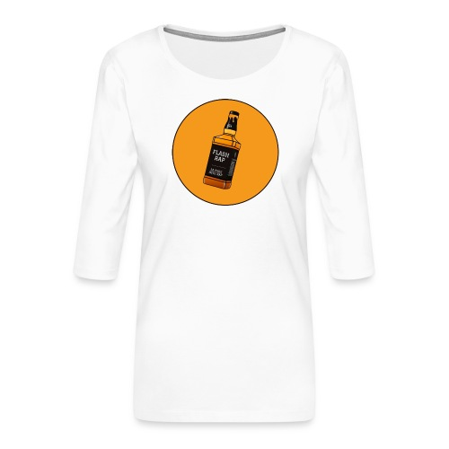 Logo Flash Rap - T-shirt Premium manches 3/4 Femme