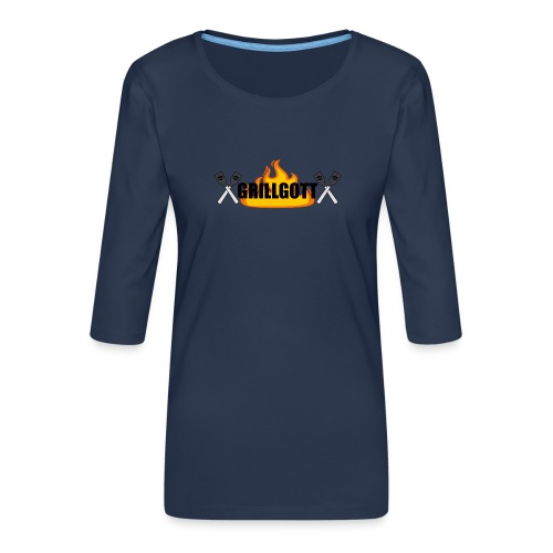 Grillgott Meister des Grillens - Frauen Premium 3/4-Arm Shirt