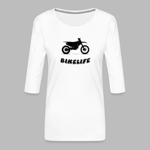 Bikelife - Premium-T-shirt med 3/4-ärm dam