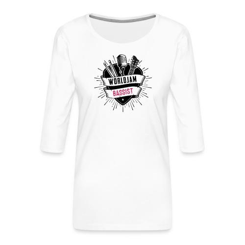 WorldJam Bassist - Women's Premium 3/4-Sleeve T-Shirt