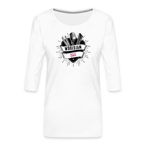 WorldJam Sax - Women's Premium 3/4-Sleeve T-Shirt