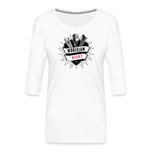 WorldJam Night - Women's Premium 3/4-Sleeve T-Shirt