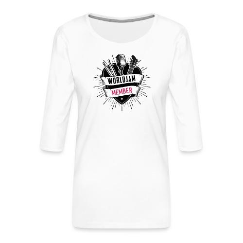 WorldJam Member - Women's Premium 3/4-Sleeve T-Shirt