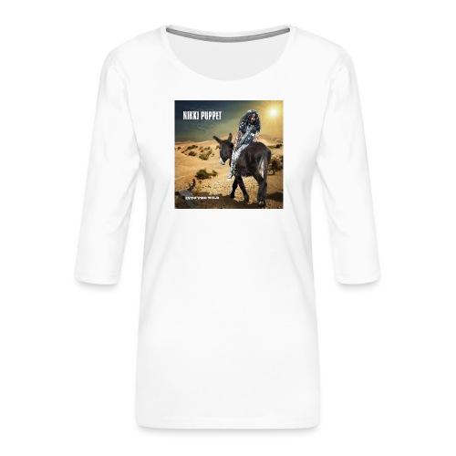 NIKKI PUPPET INTO THE WILD - Frauen Premium 3/4-Arm Shirt