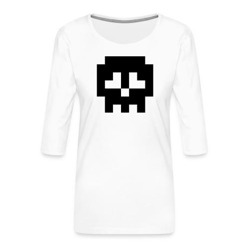 Retro Gaming Skull - Women's Premium 3/4-Sleeve T-Shirt