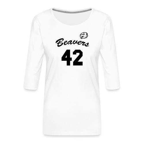 Beavers front - Vrouwen premium shirt 3/4-mouw