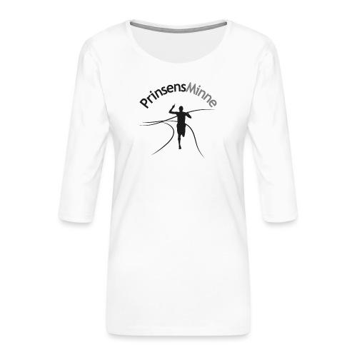 PrinsensMinne logga - Premium-T-shirt med 3/4-ärm dam