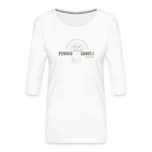 Poggio Casoli_Istituzionale - Maglietta da donna premium con manica a 3/4