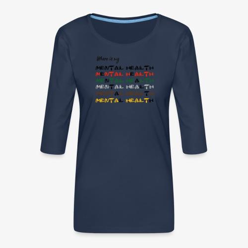Where is my...? - Women's Premium 3/4-Sleeve T-Shirt