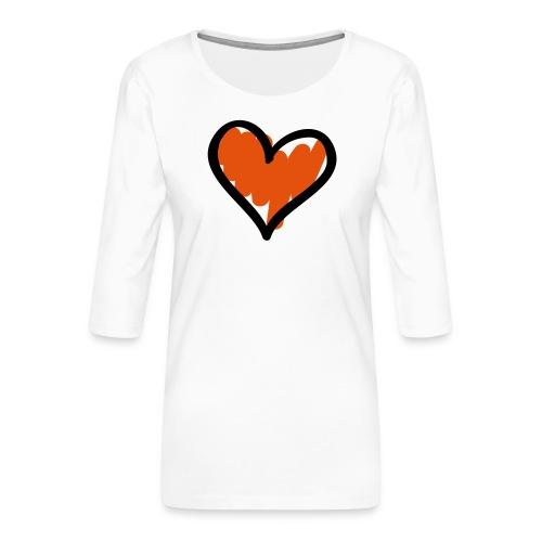 Heart Symbol Pixellamb - Frauen Premium 3/4-Arm Shirt