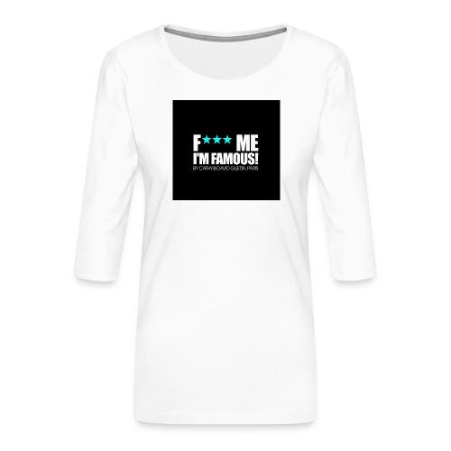 FMIF Badge - T-shirt Premium manches 3/4 Femme