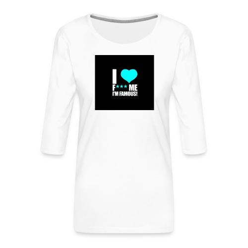 I Love FMIF Badge - T-shirt Premium manches 3/4 Femme
