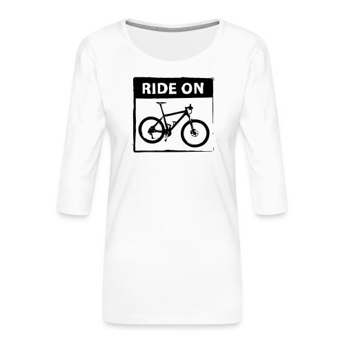 Ride On MTB 1 Color - Frauen Premium 3/4-Arm Shirt