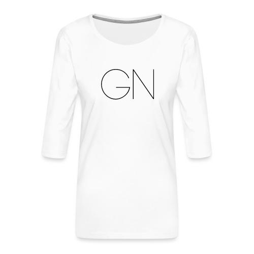 Långärmad tröja GN slim text - Premium-T-shirt med 3/4-ärm dam